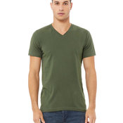 Mens Canvas Fitted V-Neck T-Shirt